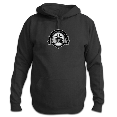Hood with grey logo front - BRATWURST BROS